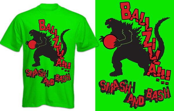 Ballzilla – Kickball Team Tshirt
