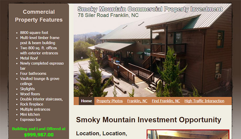 Smoky Mountain Commercial Property Investment