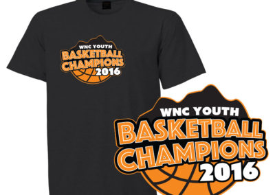 WNC Youth Basketball Tournament T-shirt