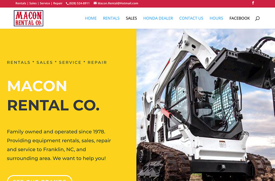 Macon Rental Co Website
