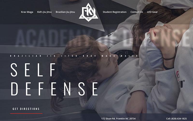 fight kraft franklin website design