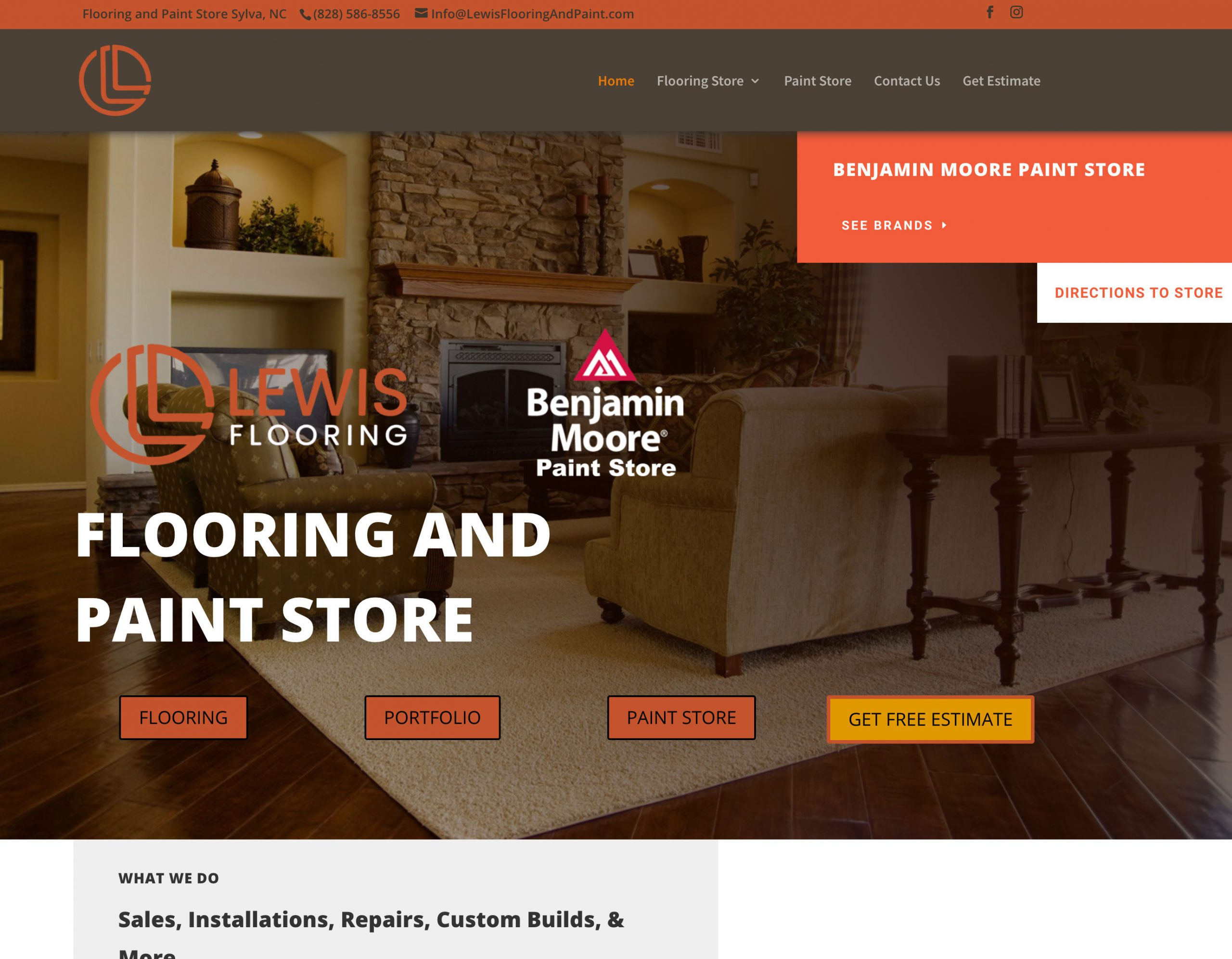 lewis flooring and paint
