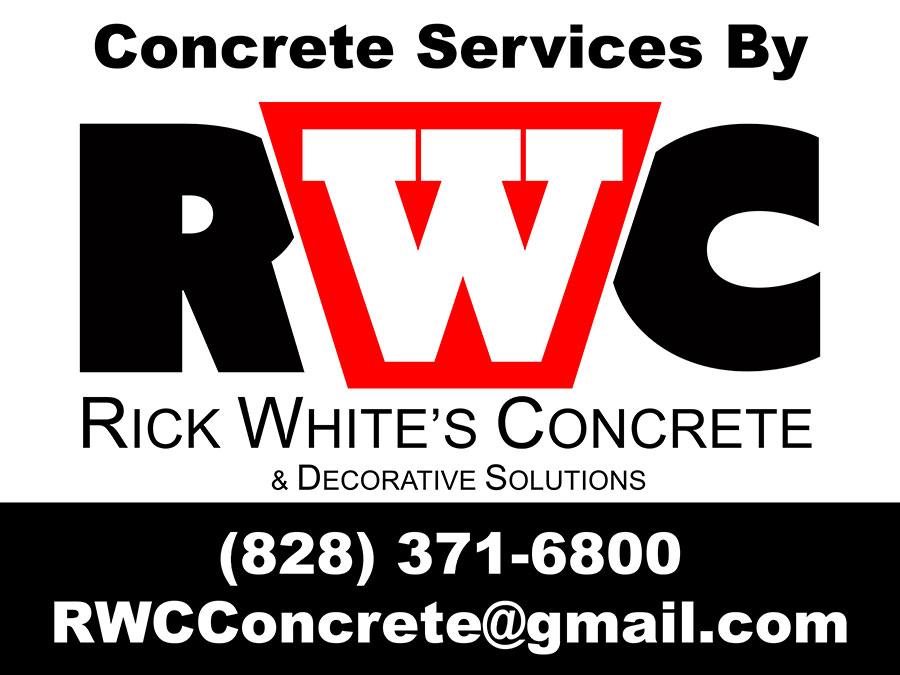 rick white concrete yard sign